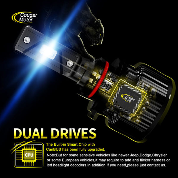 Cougar Motor 9005 Led Headlight Bulbs 10000 Lumens Super Bright 6000K Cool White_06