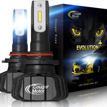 Cougar Motor 9005 Led Headlight Bulbs 9600Lm 6500K Fanless All In One Conversion Kit_01