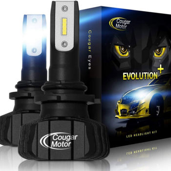 Cougar Motor 9006 Led Headlight Bulbs 9600Lm 6500K Fanless All In One Conversion Kit_01