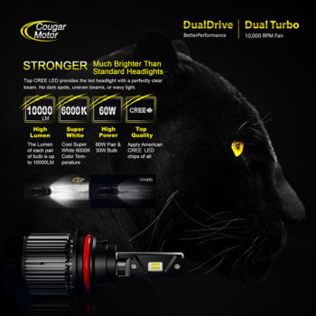 Cougar Motor 9007 Led Headlight Bulbs 10000 Lumens Super Bright 6000K Cool White_02