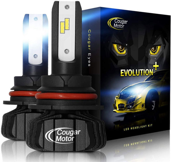Cougar Motor 9007 Led Headlight Bulbs 9600Lm 6500K Fanless All In One Conversion Kit_01