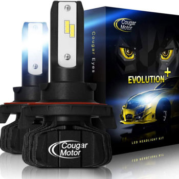 Cougar Motor H13 Led Headlight Bulbs 9600Lm 6500K Fanless All In One Conversion Kit_01