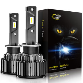 Cougar Motor H3 Led Headlight Bulbs 10000 Lumens Super Bright 6000K Cool White_01