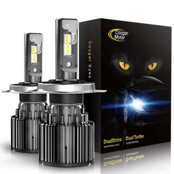 Cougar Motor H4 Led Headlight Bulbs 10000 Lumens Super Bright 6000K Cool White_01