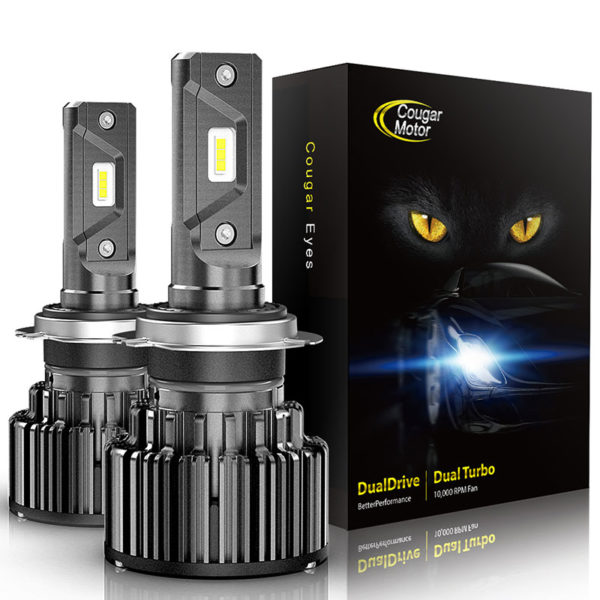 Cougar Motor H7 Led Headlight Bulbs 10000 Lumens Super Bright 6000K Cool White_01