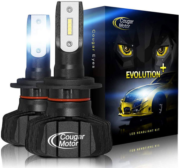 Cougar Motor H7 Led Headlight Bulbs 9600Lm 6500K Fanless All In One Conversion Kit_01