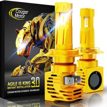 Cougar Motor H7 Wireless LED Headlight Bulbs 12000Lm 6500K Slim Cool White_01