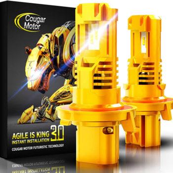 Cougar Motor H13 Wireless LED Headlight Bulbs 12000Lm 6500K Slim Cool White_01