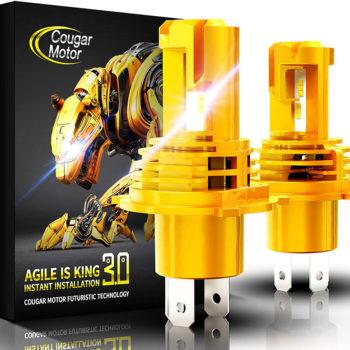 Cougar Motor H4 Wireless LED Headlight Bulbs 12000Lm 6500K Slim Cool White_01